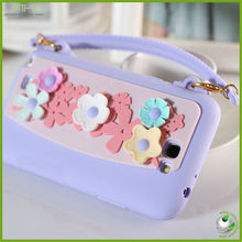 Cute mobile phone silicon case for samsung galaxy note 2