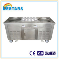 2015 New Style -30 C degree Fried Ice Cream Machine double pans