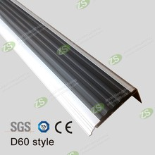 High quality anti-slip aluminum stair strip nosing plastic stairs step