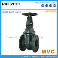 Competitive price and high quality flanged cast ductile iron ggg40 ggg50 resilient soft seated gate valve