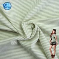 100% Cotton Double Sided Yarn Dyed Stripe Interlock Fabric Textile