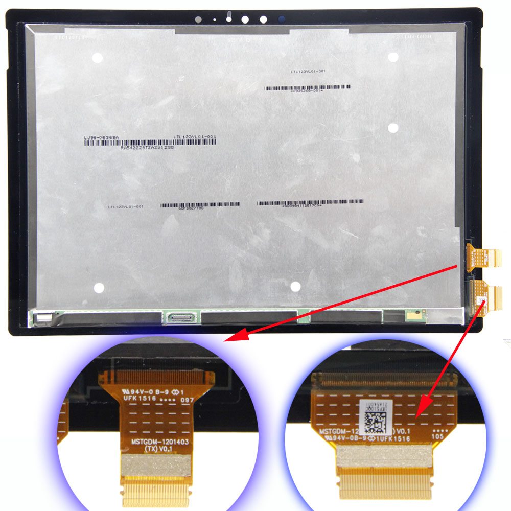 Wholesale Replacement 12.3 inch LCD and Touch Screen Digitizer Panel Assembly For Microsoft surface Pro4