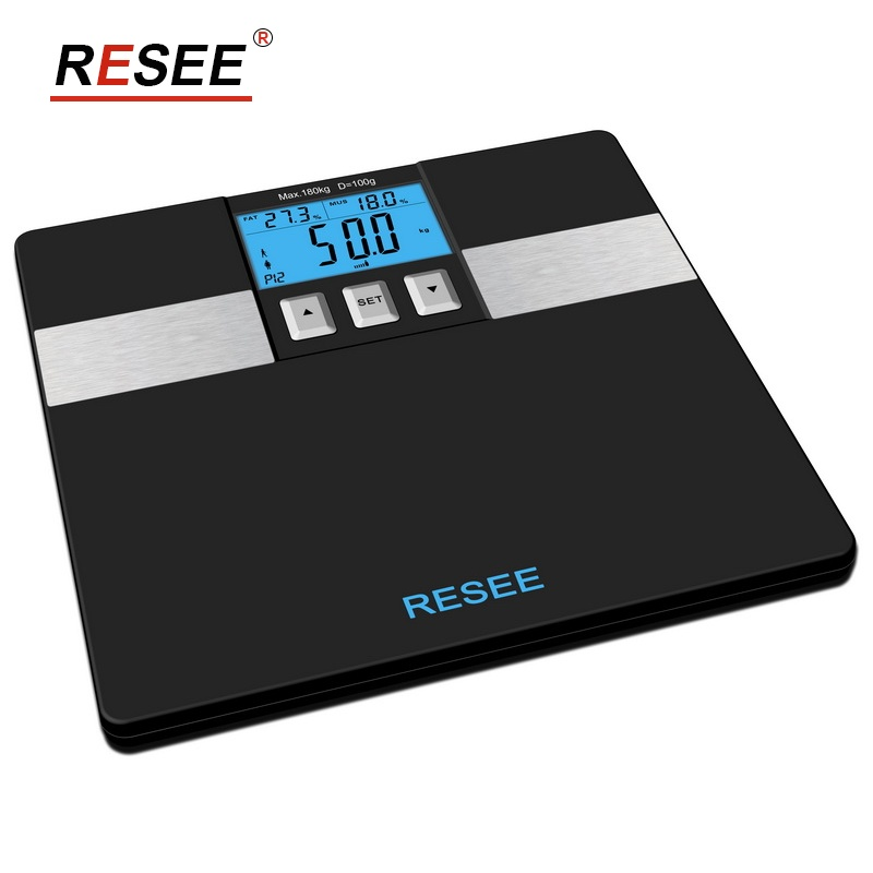 Memory: 10 persons 396lb Digital Bath Scale Measure Weight Body Fat
