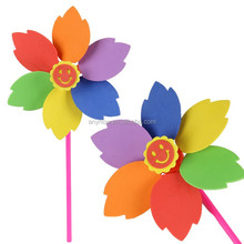 Welcome crazy 6 colors spin children best handmade EVA pinwheel playthings