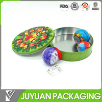 2016 chirstmas round cookie gift packaging metal tin box can