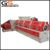 Recycling waste plastic bottles and baggs single screw extruder plastic granules making machine for manufacturer
