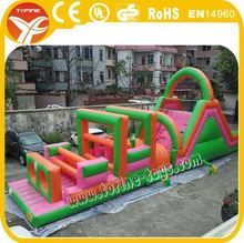 Commercial kids inflatable playground outdoor obstacle course for sale