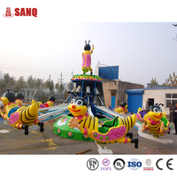 Amusement Outdoor Kids Games For Sale 16 Seats Happy Swing Rotary Bees Children's Rides For Park