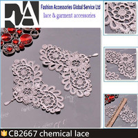 CB2667 Applique Flower Nigerian Cord Lace Bridal Veil Embroidery Lace Trim for Wedding