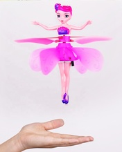 Best Christmas gift toys hand induction usb cable flying fairy toys