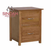 Solid Oak Wood living room furniture set 2 DRAWER FILING CABINET(KN2FC)