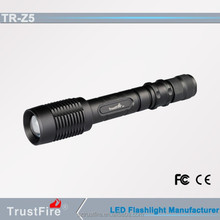 TrustFire Z5 1600LM hot sale zoomable flashlight telescopic flashlight aluminum flexible flashlight led torch 2014