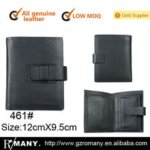 genuine leather women cow-hide men's/male business wallet/casual practical purse bi-fold /two fold clip leather wallet