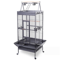 Grey Cheap Strong Metal Large Parrot Cage