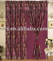 Yarn-Dyed Jacquard Curtain with Lining