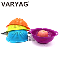Wholesale washing clean plastic mesh bowl rice strainer