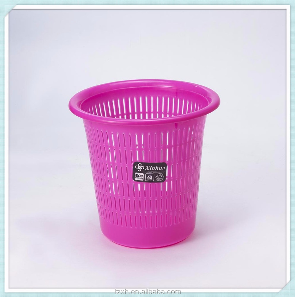 Cheap PP plastic waste paper basket