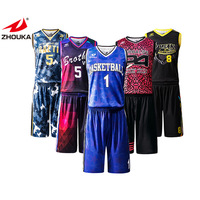 Cool Latest Design Sublimation Basketball Uniforms Custom Shorts And Tops Cheap Basketball Jerseys For Team Wear