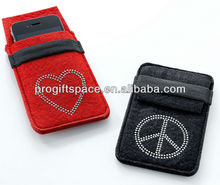 Fancy Mobile Phone Covers - Beautiful Custom Cell Phone Cases - Cheap Bulk Felt Case for Cell Phone - OEM