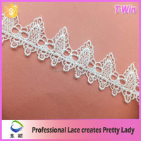 2016 New arrivals hot sale 35mm water soluble lace trim for decorating curtain