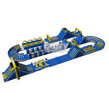 2017 New Design largest giant adult inflatable obstacle course for sale, outdoor playground equipment for team sport