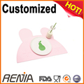 RENJIA Silicone rubber dining baby kids coffee restaurant table mats placemat custom