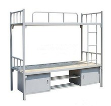 Double metal bed frame with school dormitory/furniture bedroom double deck bed