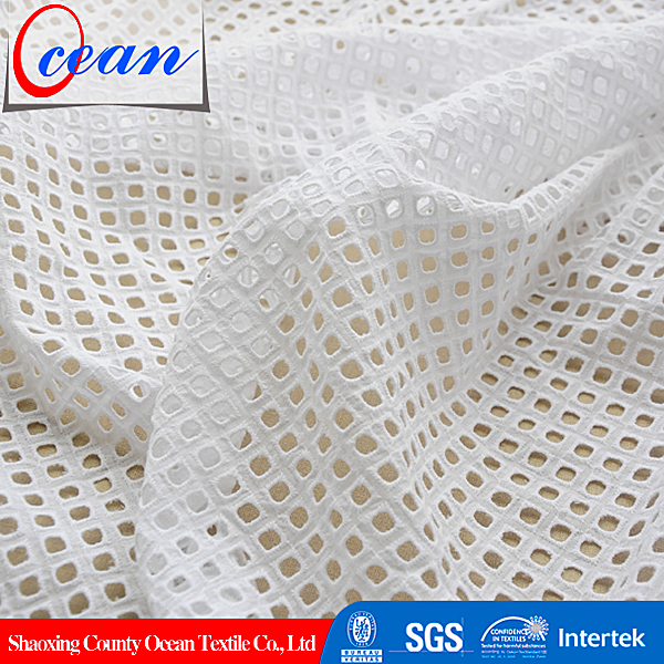 Wholesale UK/US/EU Swiss Voile Cotton Embroidery Fabric White