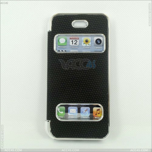 For iPhone 5/5S Dual Window Leather Hand Phone Case P-IPH5CASE083