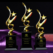 Engraved Trophy Cup Custom Made Trophies with Five-pointed Star