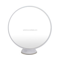 Plastic frame 3X,5X,10X magnifying wall mounted makeup mirror with suction cup for man's bathroom using