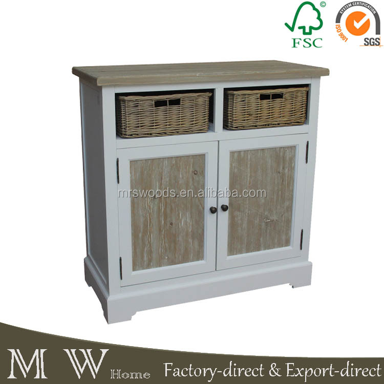 french style antique white solid wood buffet,high quality living room furniture