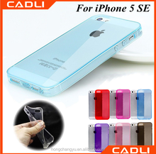 2016 Low Price For iPhone 5 SE ultra thin tpu silicone mobile phone case