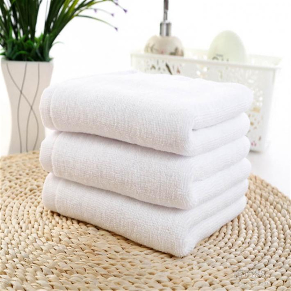 White cotton bath towels Hotel SPA club sauna beauty custom LOGO