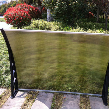 Polycarbonate waterproof awning material rain shelter door canopy and window awning