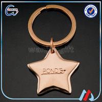 zinc alloy plating brass description key chain for promotional gifts