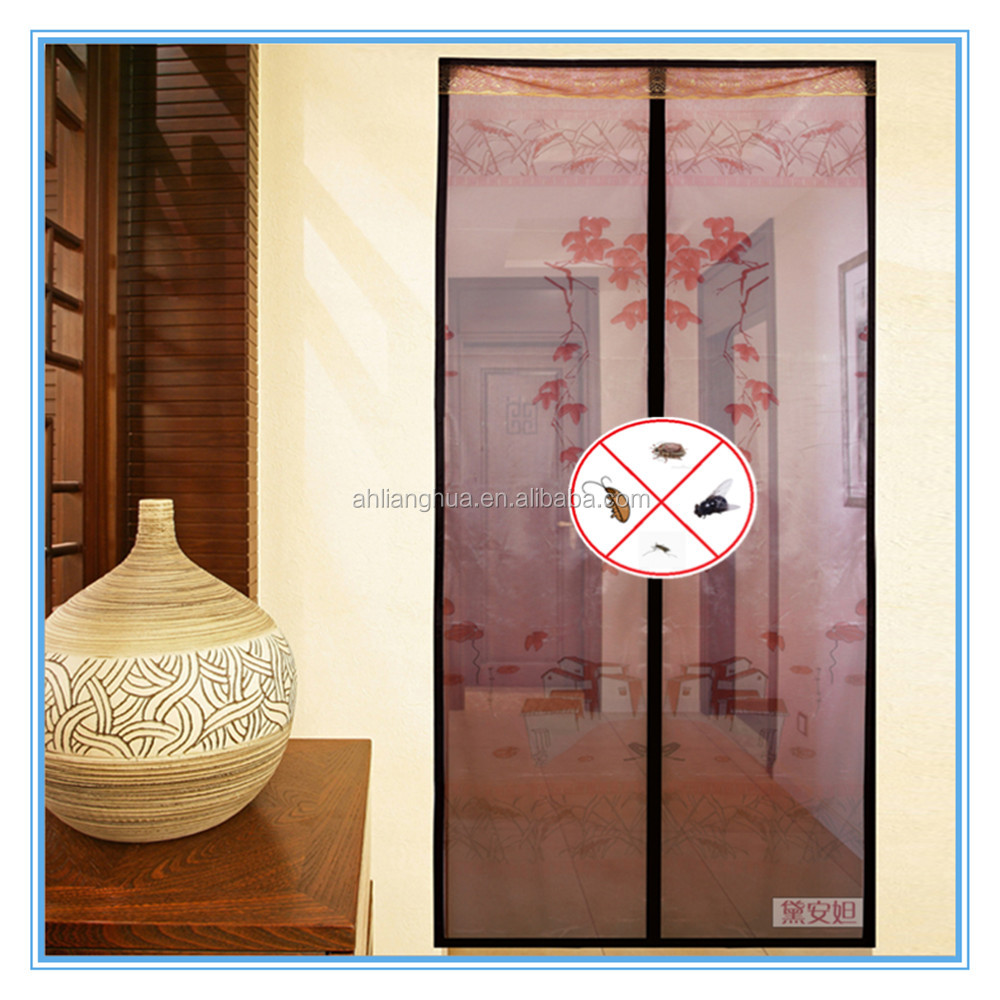 Hot Sell mosquito folding large size new style sopraporta decorative magnetic window screen door