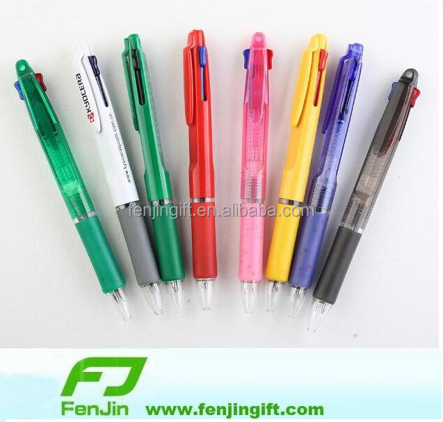 plastic two color ink pen with logo