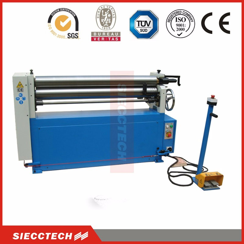 3 Roller Asymetrical Bending Roll with Power to Pinch Roller and Pre-bending Function,W11F-6*2500mm