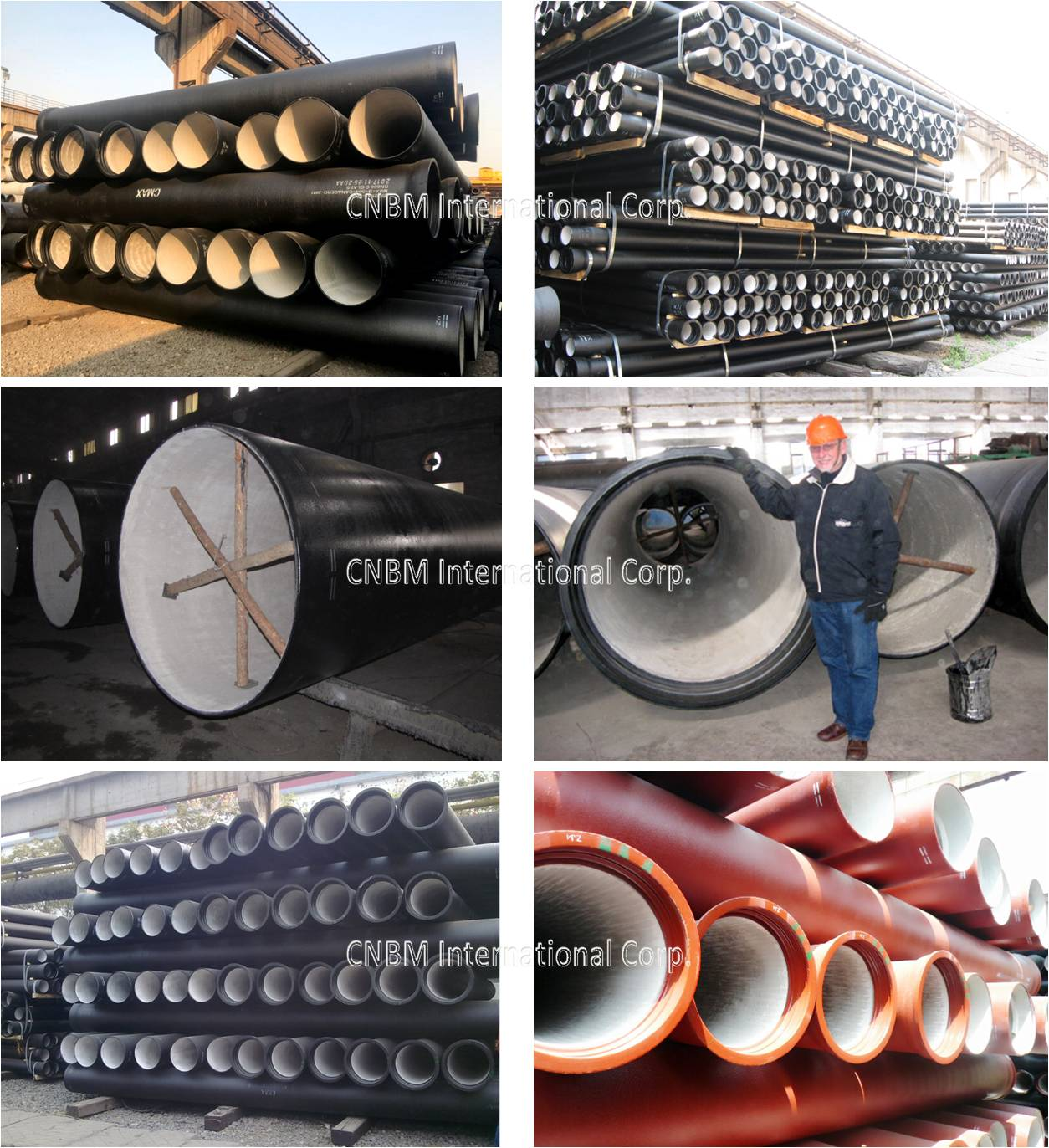 Ductile Iron Pipe DN80-DN2000mm CMAX ISO2531& EN545
