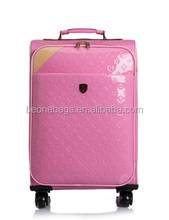 Online Shopping Factory Price Patent Leather Royal Suitcase Trolley Luggage
