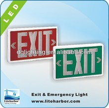 Self luminous 6 inch exit signs with Green or red letters