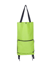 New shopping trolley bag wheels with metal stents foldable portable folding shopping trolley bag