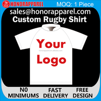 wholesale sublimation custom cheap rugby jersey design, custom black rugby shirt/rugby league jerseys honorapparel