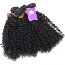 Top grade chocolate kinky curly hair extension for trade show