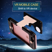 2 in 1 function 3D VR Glasses Case Hybrid Virtual Reality Lens Cover for iPhone 6s Plus