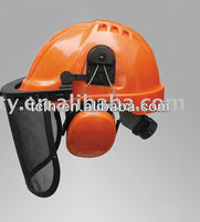 CE EN397 and ANSI safety helmet face shield with eye protector and ear muff