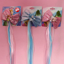 high quality classic silky satin ribbon bows hairpins alligator hair clips