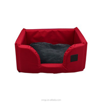Top quality oxford waterproof memory foam large pet bedding dog bed luxury