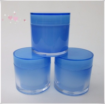 Wholesale blue Plastic Wide Mouth Jar PET Jar for Face Mask